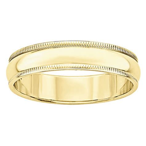 mens 10k gold wedding band jcpenney