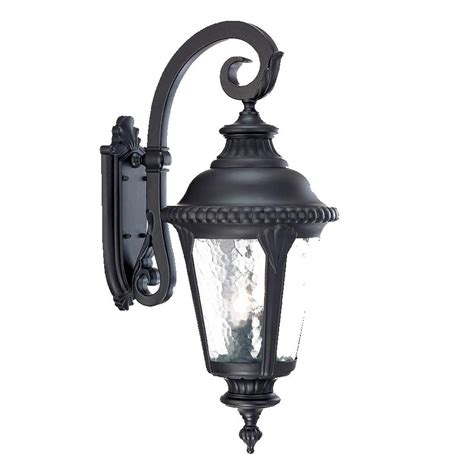 Black Outdoor Lighting Shop Acclaim Lighting Surrey 29 In H Matte Black Outdoor Wall Light At Lowes