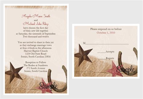Cowboy Wedding Invitations by 100 Personalized Custom Western Cowboy Bridal Wedding