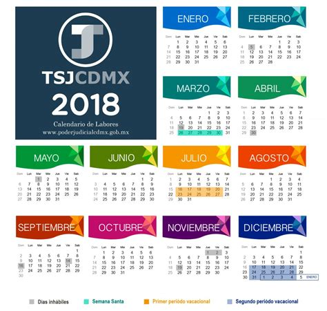 Calendario De La Calendarios Poder Judicial Cdmx