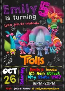trolls birthday invitation by happycolorsdesign on etsy