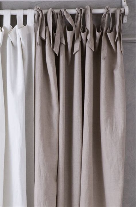 look on top of the curtain tie top curtains these curtains give the illusion of an
