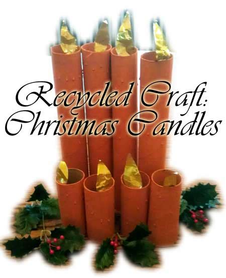 Craft With Paper Towel Roll - recycled craft candle craft project for