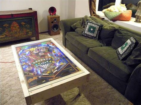 pinball machine gets a second as a coffee table