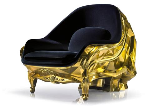 Skull Armchair by Harow Gives 24 Karat Gold Makeover To Its Skull Lounge