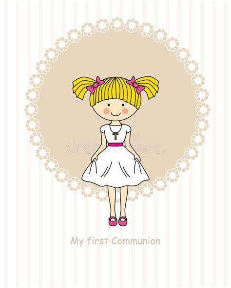 clipart prima comunione prima comunione della ragazza illustrazione vettoriale