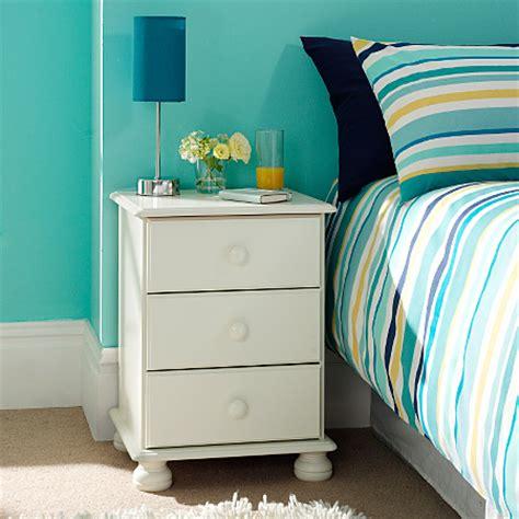Hton 3 Drawer Bedside Chest White Furniture Asda Asda Bedroom Furniture