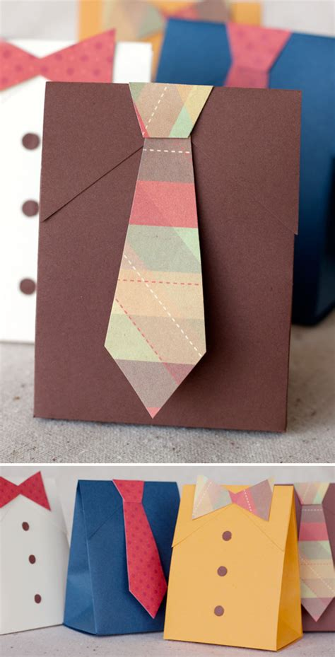 fathers day paper crafts cards diy s day shirt tie gift boxes