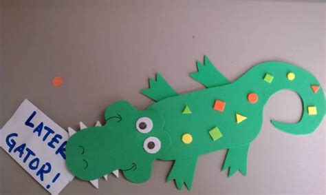 crocodile craft for alligator coloring pages 27 pictures crafts and cliparts