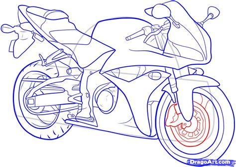 Motorrad Zeichnen by How To Draw A Motorbike Step By Step Motorcycles