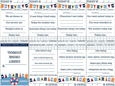 printable disney journal pages printable foldable disney cruise journal great fe gift