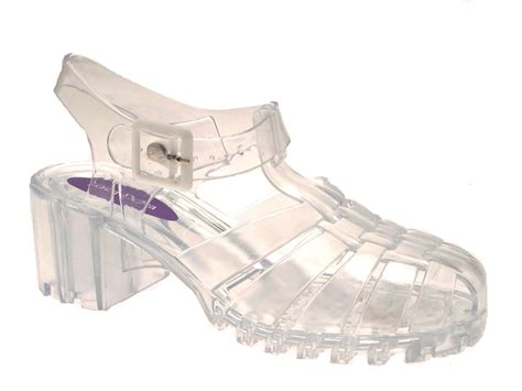 Heel Shoes Jelly womens heel jelly cut out sandals flat jellies