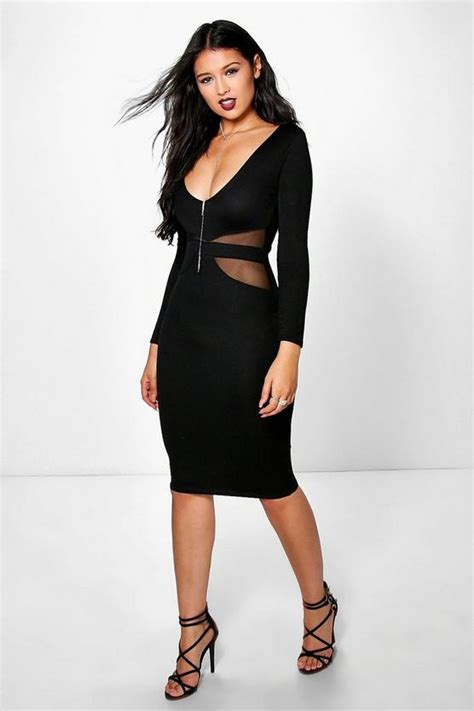 Sleeve Mesh Midi Dress yasmin sleeve mesh midi dress boohoo