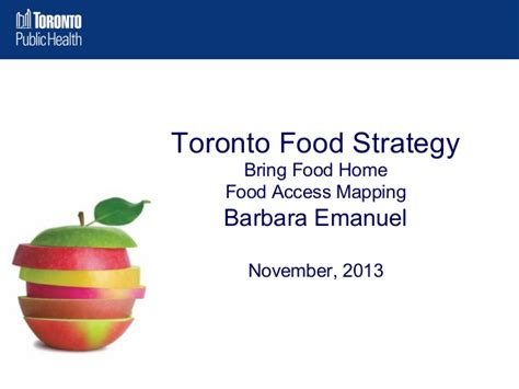 toronto food strategy food access mapping