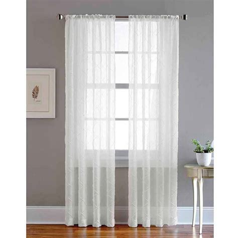 Window Sheer Curtains Curtain Fresh Odor Neutralizing Sheer Voile Grommet Curtain Panel Walmart