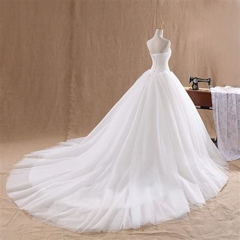 Plus Size Lace Wedding Dresses With Cathedral by Wowbridal 2016 White Gown Wedding Dresses Cathedral