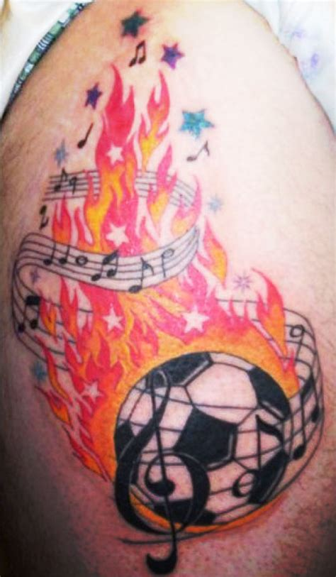 house music tattoo designs fire football with music tattoo design sheplanet