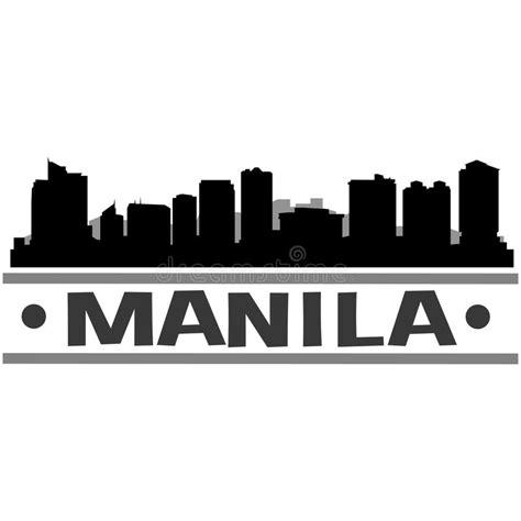 freelance layout artist manila manila skyline city icon vector art design stock vector