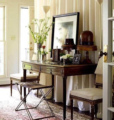 Front Door Entry Tables Interesting Mix Entryway With Drapery Panels Create