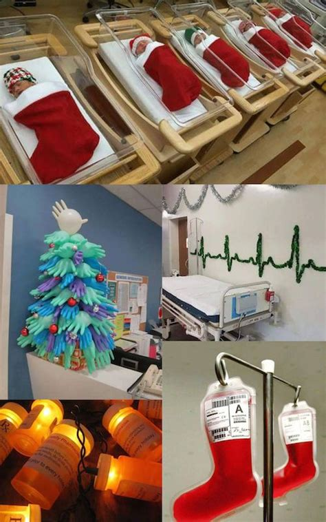 chrisymas nurse craft hospital decorations that show staff are the most creative