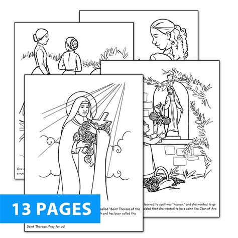 st therese coloring book