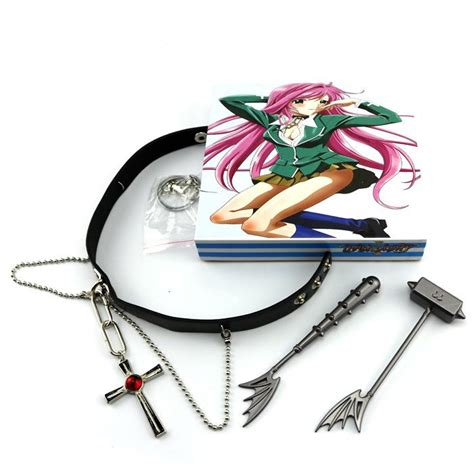G E M Elizabeth Gintama Original Japan Version G E M Megahouse rosario ruby cross alloy necklace knife buckle