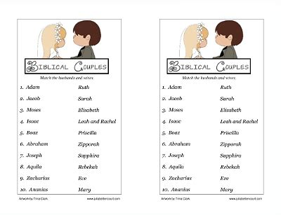 valentines day activities for couples biblical couples matching printable