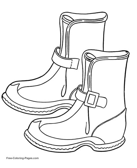 winter coloring pages winter boots