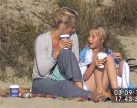 7 Year Old Girl Filmed Undressing on Beach by Private