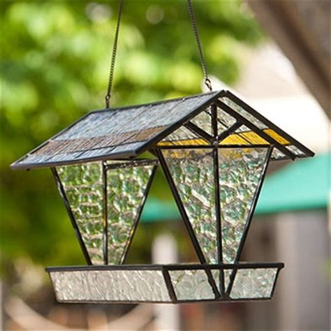 stained glass bird feeder stained glass lead light