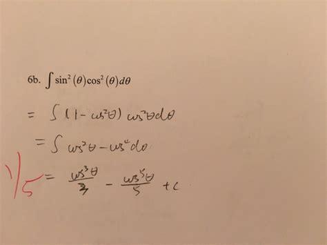 sin city 2 integral solved integral sin 2 theta cos 2 theta d theta integra chegg com