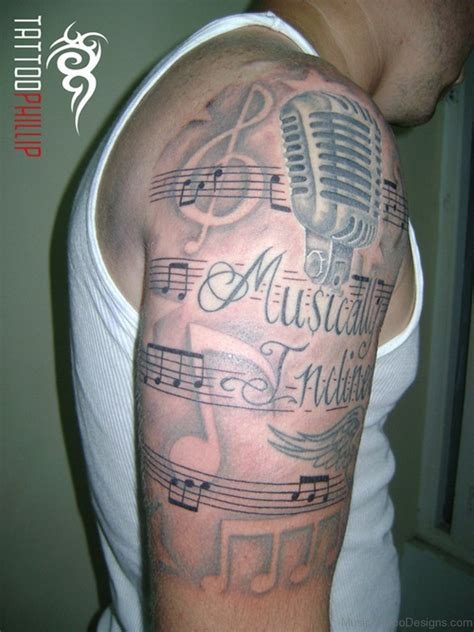 musical half sleeve tattoo designs 49 best tattoos for guys