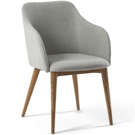 chaise tissu avec accoudoir chaise avec accoudoir design scandinave varm gris clair