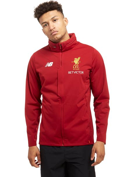 Sweater Baseball Liverpool Kancing lyst new balance liverpool fc 2017 jacket in for