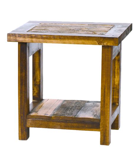 wyoming reclaimed barnwood furniture end table