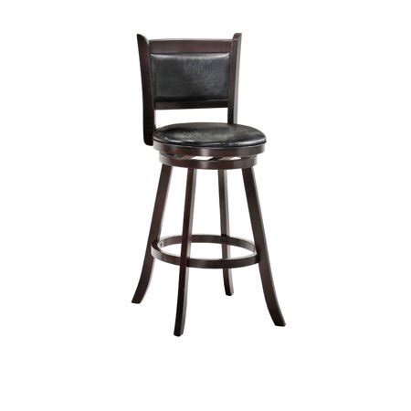 Espresso Vinyl Fabric - charleston 24 quot swivel bar stool color espresso finish