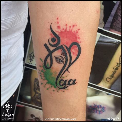 name tattoo designs in hindi maapaa with heartbeat and family symbol maa paa