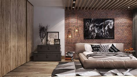 loft style bedroom  behance
