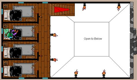 Image Of Floor Plan by Dark Leagues Fantasy Mapping Deetahtown Tavern