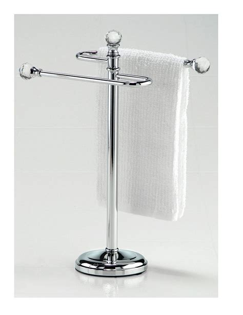 bathroom countertop towel stand crystal fingertip towel holder