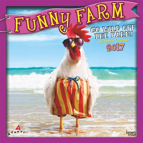 Funny Farm 2017 Wall Calendar 9781465056580 Calendars Com
