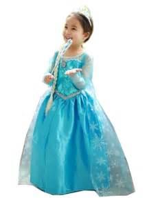 princess inspired elsa girls costume dress blue princess