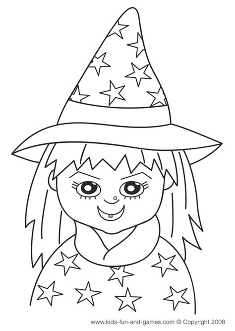 cute witch coloring page kids free halloween coloring sheets cute witch www kids