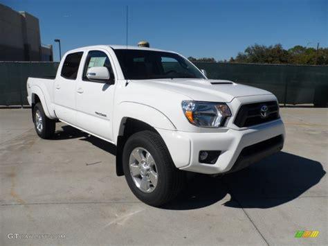 white toyota truck 2012 super white toyota tacoma v6 trd sport double cab 4x4