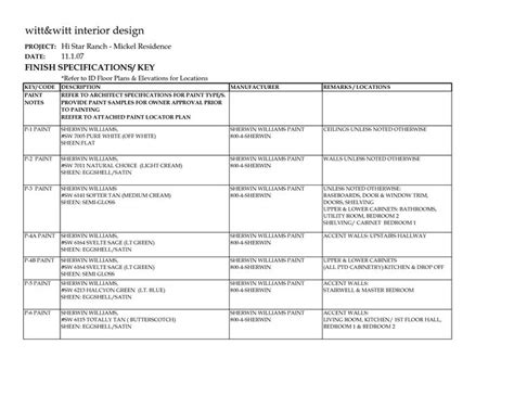 Interior Finish Schedule Template Commercial Interior Design Pinterest Schedule Templates Interior Design Finish Schedule Template