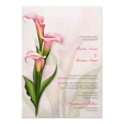 calla pink wedding invitation 5 quot x 7 quot invitation card zazzle