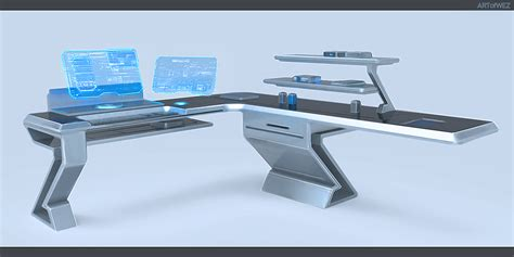 tomorrow s futuristic computer desk by w e z on deviantart