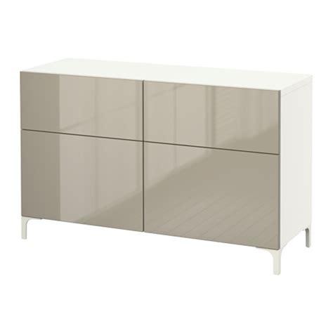 besta drawer best 197 storage combination w doors drawers white selsviken high gloss beige 120x40x74 cm