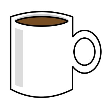 Cartoon Coffee Mug | drawing a cartoon coffee cup