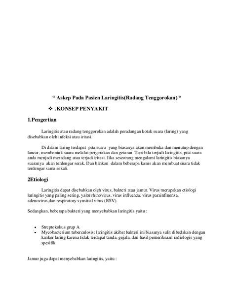 Obat Tetes Telinga Untuk Melunakkan Serumen askep tonsilitis dan laringitis